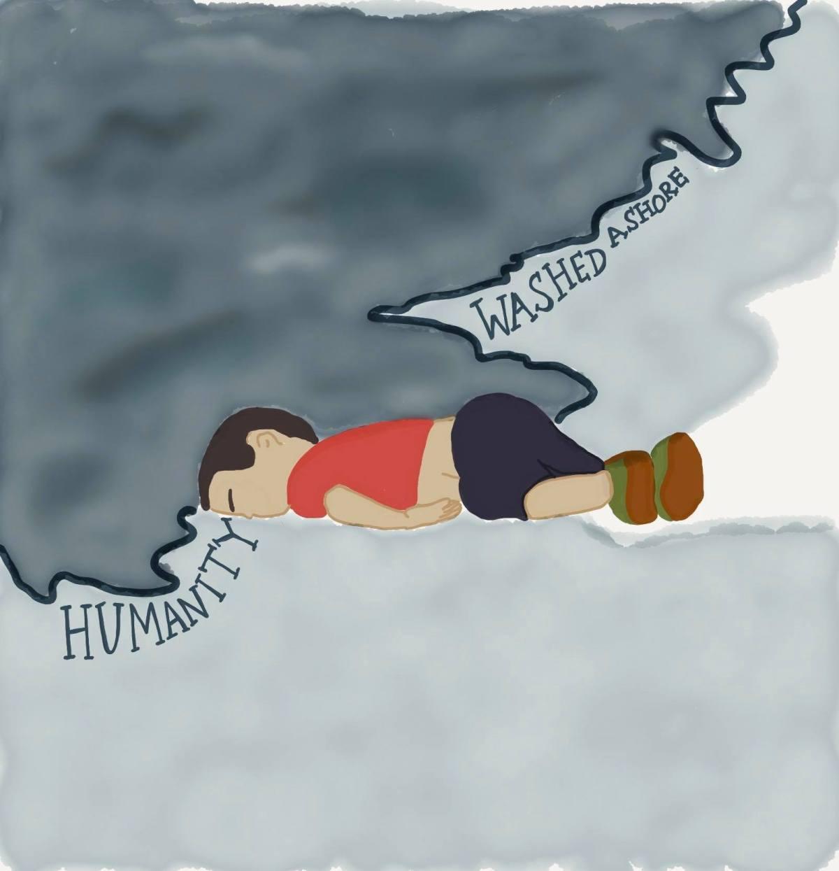 Humanity washed ashore.