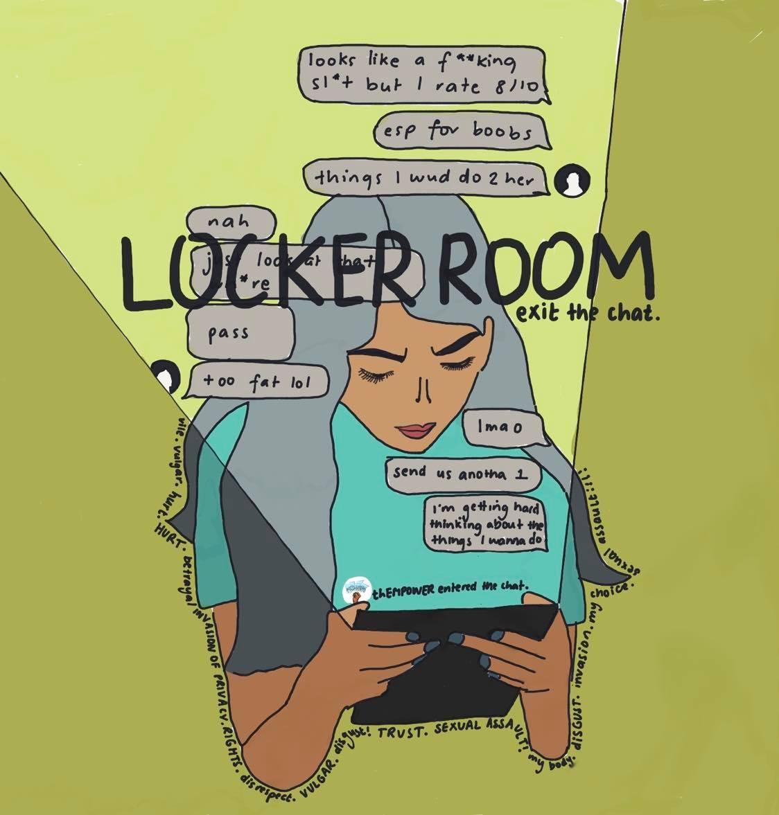 boys locker room.